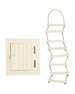 Ovi ja köysitikas, koko 9-20 cm, 1 set