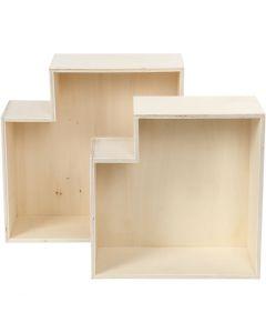 Säilytyslaatikot, Kork. 27+31 cm, 2 kpl/ 1 set