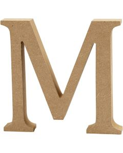 Kirjain, M, Kork. 8 cm, paksuus 1,5 cm, 1 kpl
