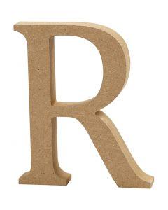 Kirjain, R, Kork. 8 cm, paksuus 1,5 cm, 1 kpl