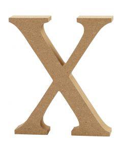 Kirjain, X, Kork. 8 cm, paksuus 1,5 cm, 1 kpl