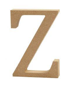 Kirjain, Z, Kork. 8 cm, paksuus 1,5 cm, 1 kpl