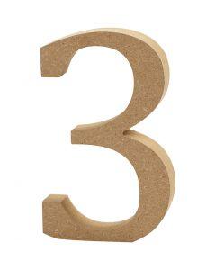 Numero, 3, Kork. 8 cm, paksuus 1,5 cm, 1 kpl