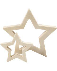 Tähdet, halk. 9+16 cm, paksuus 20 mm, 2 kpl/ 1 pkk
