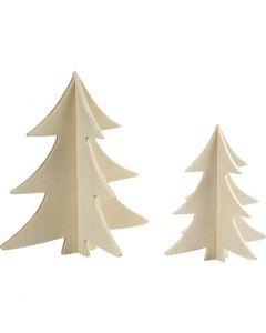 Joulukuuset, Kork. 13+18 cm, 2 kpl/ 1 pkk