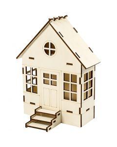 Rakennettava talo, Kork. 24 cm, Lev: 19 cm, 1 kpl