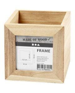 Ikkunalaatikko, koko 10x10x10 cm, aukon koko 6,2x6,2 cm, 1 kpl