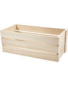 Puulaatikko, Kork. 17 cm, koko 45x20 cm, 1 kpl