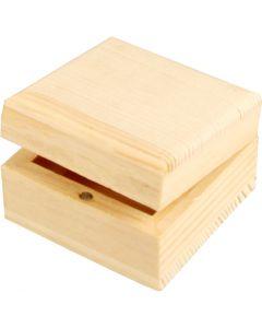 Puinen korurasia, koko 6x6x3,5 cm, 1 kpl