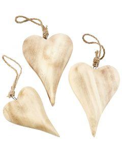 Sydän, Kork. 9,5+15 cm, Lajitelman sisältö voi vaihdella , 6 kpl/ 1 pkk