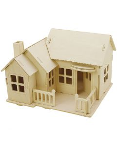 3D-palapeli, talo terasseineen, koko 19x17,5x15 , 1 kpl