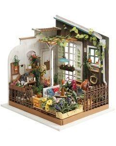 DIY minihuone, Kork. 21 cm, Lev: 19,5 cm, 1 kpl