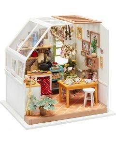 DIY minihuone, Kork. 18,7 cm, Lev: 19 cm, 1 kpl