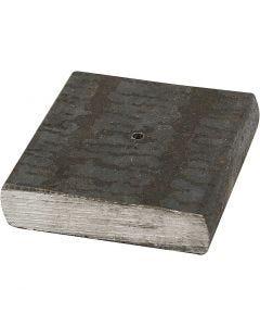 Rautajalusta, koko 4x4x1 cm, aukon koko 2 mm, 1 kpl