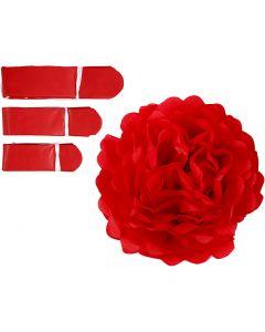 Pompomit, halk. 20+24+30 cm, 16 g, punainen, 3 kpl/ 1 pkk