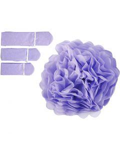 Pompomit, halk. 20+24+30 cm, 16 g, violetti, 3 kpl/ 1 pkk