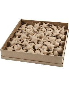 Joulukoristeet, koko 5+8 cm, 120 kpl/ 1 pkk