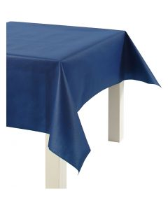 Pöytäliina kangasjäljitelmää, Lev: 125 cm, 70 g, tummansininen, 10 m/ 1 rll