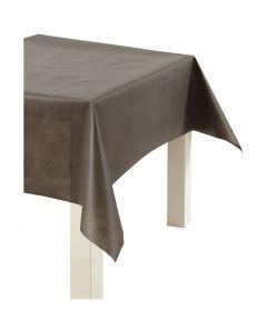 Pöytäliina kangasjäljitelmää, Lev: 125 cm, 70 g, ruskea, 10 m/ 1 rll