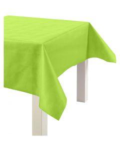 Pöytäliina kangasjäljitelmää, Lev: 125 cm, 70 g, lime vihreä, 10 m/ 1 rll
