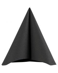 Servietti, koko 40x40 cm, 60 g, musta, 20 kpl/ 1 pkk