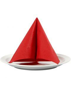 Servietti, koko 33x33 cm, punainen, 20 kpl/ 1 pkk