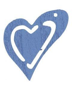Sydän, koko 25x22 mm, vaaleansininen, 20 kpl/ 1 pkk