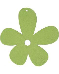 Kukka, koko 57x51 mm, lime vihreä, 10 kpl/ 1 pkk