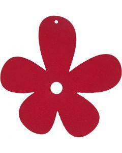 Kukka, koko 57x51 mm, tummanpinkki, 10 kpl/ 1 pkk