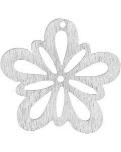 Kukka, halk. 27 mm, valkoinen, 20 kpl/ 1 pkk
