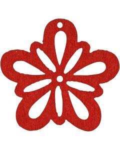 Kukka, halk. 27 mm, punainen, 20 kpl/ 1 pkk