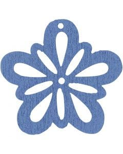 Kukka, halk. 27 mm, vaaleansininen, 20 kpl/ 1 pkk