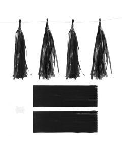 Paperitasselit, koko 12x35 cm, 14 g, musta, 12 kpl/ 1 pkk