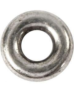 Rengaslinkki, halk. 9 mm, aukon koko 4 mm, antiikkihopean väris, 15 kpl/ 1 pkk