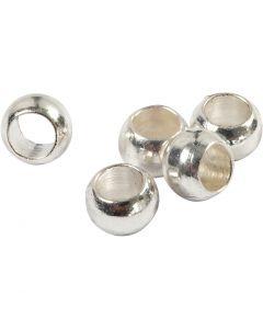 Lukitushelmi, halk. 2,5 mm, hopeanväriset, 1000 kpl/ 1 pkk