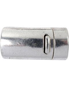 Magneettilukko, halk. 26 mm, aukon koko 10 mm, antiikkihopean väris, 1 kpl