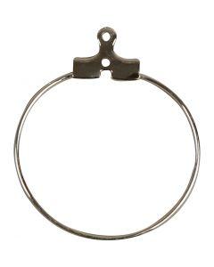 Korurenkaat, halk. 25 mm, hopeanväriset, 60 kpl/ 1 pkk