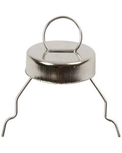 Metalliripustin, halk. 13 mm, aukon koko 5 mm, hopea, 25 kpl/ 1 pkk