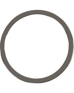 Riipus, halk. 30 mm, tummanharmaa metallic, 2 kpl/ 1 pkk