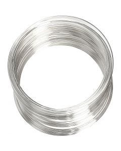 Kieppivaijeri, halk. 6 cm, paksuus 0,8 mm, hopeanväriset, 1 kpl