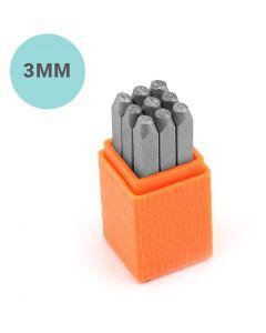 Pakotusleimasin (punsseli), numerot, koko 3 mm, Fontti: Sans Serif , 9 kpl/ 1 set