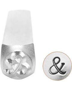 Pakotusleimasin (punsseli), et-merkki, Pit. 65 mm, koko 6 mm, 1 kpl