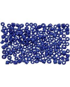 Rocaille-siemenhelmet, halk. 3 mm, koko 8/0 , aukon koko 0,6-1,0 mm, sininen, 500 g/ 1 pkk