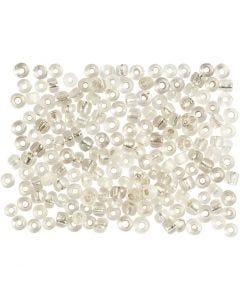Rocaille-siemenhelmet, halk. 3 mm, koko 8/0 , aukon koko 0,6-1,0 mm, hopea, 500 g/ 1 pkk