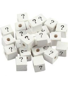 Symbolihelmi, ?, koko 8x8 mm, aukon koko 3 mm, valkoinen, 25 kpl/ 1 pkk