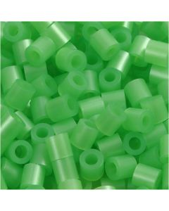 Putkihelmet, koko 5x5 mm, aukon koko 2,5 mm, medium, helmiäsvihreä (32240), 1100 kpl/ 1 pkk