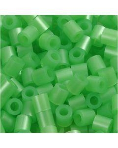 Putkihelmet, koko 5x5 mm, aukon koko 2,5 mm, medium, helmiäsvihreä (32240), 6000 kpl/ 1 pkk