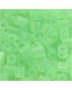 Putkihelmet, koko 5x5 mm, aukon koko 2,5 mm, medium, vihr.neon (32237), 1100 kpl/ 1 pkk