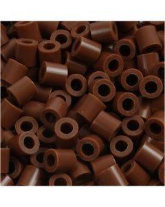 Putkihelmet, koko 5x5 mm, aukon koko 2,5 mm, medium, suklaanruskea (32249), 6000 kpl/ 1 pkk