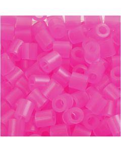Putkihelmet, koko 5x5 mm, aukon koko 2,5 mm, medium, rosa neon (32257), 1100 kpl/ 1 pkk